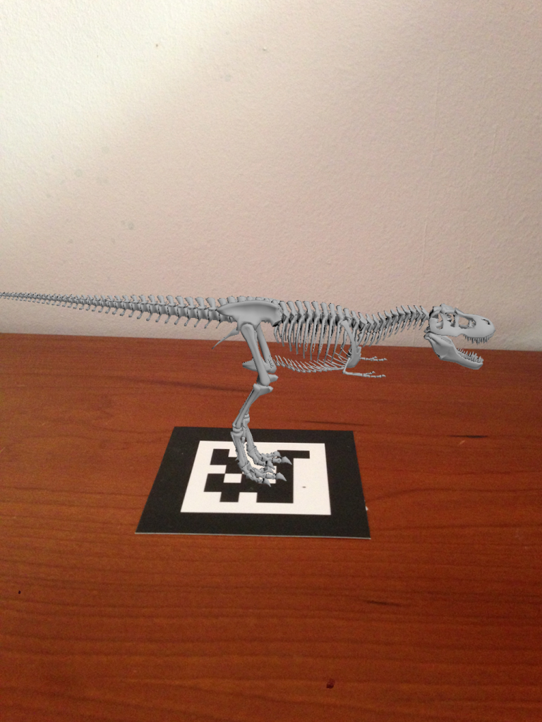 Realidad Aumentada dinosaurio