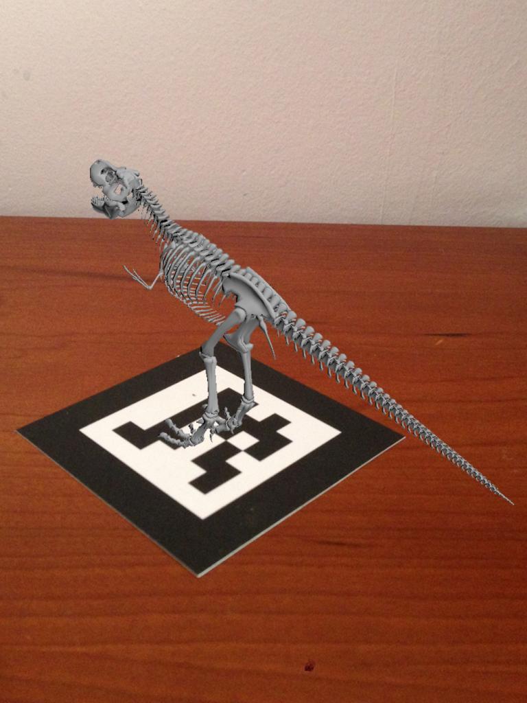 Realidad Aumentada esqueleto dinosaurio