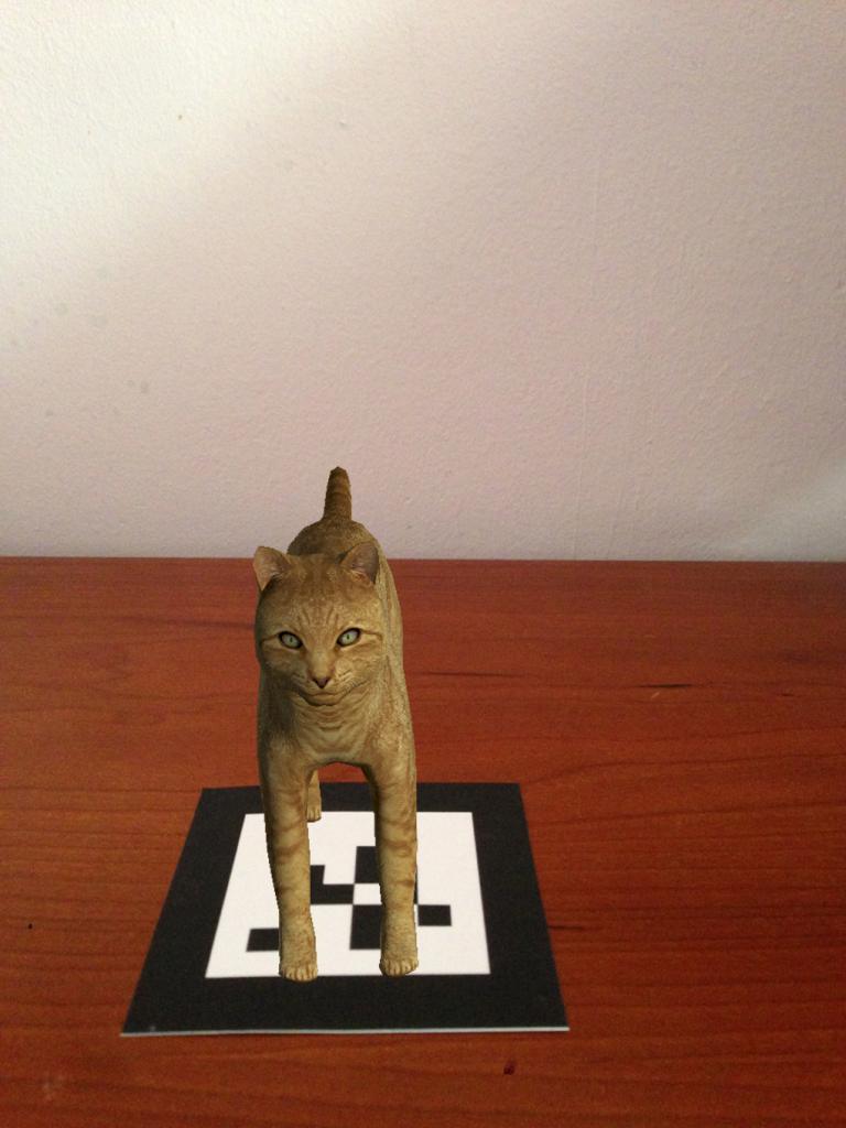 Realidad Aumentada gato