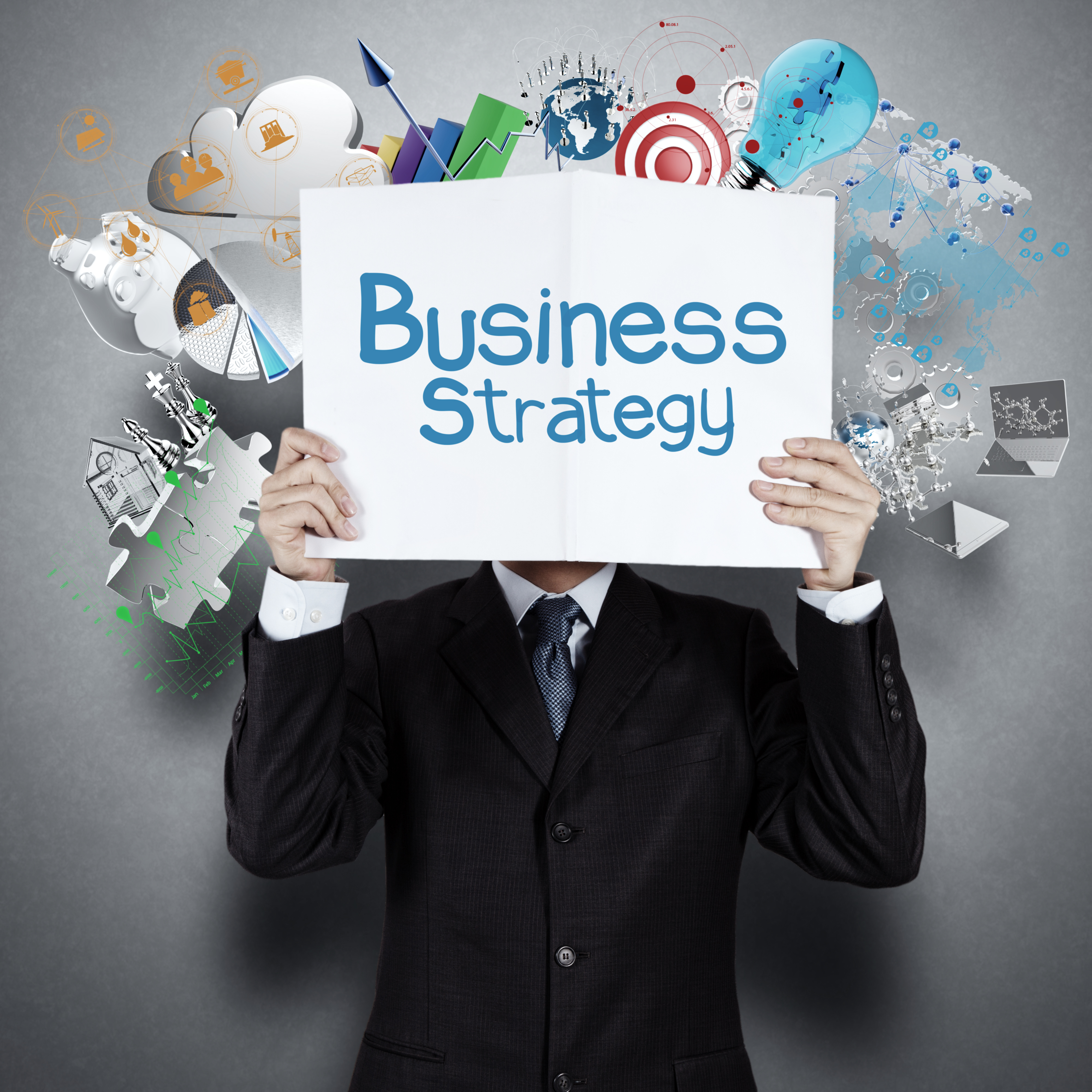 businessman hand show book of success business