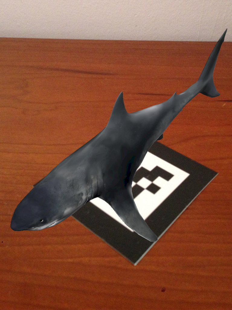 Realidad Aumentada tiburon