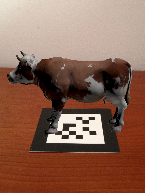 Realidad Aumentada vaca